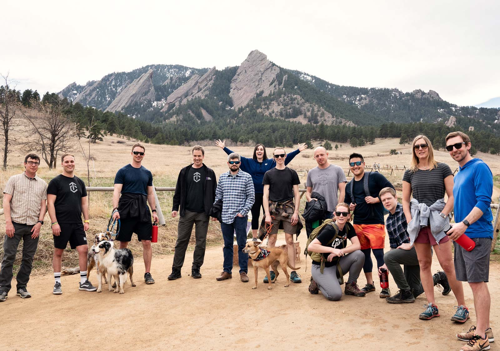 Team hike at Chatuaqua, Boulder, Colorado